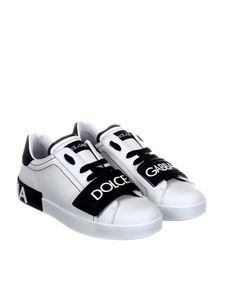 Dolce & Gabbana - White leather sneakers