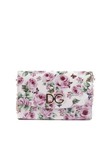 Dolce & Gabbana - White Dauphine clutch with roses print