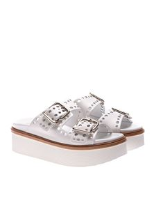 Tod's - White 97A sandals with buckles