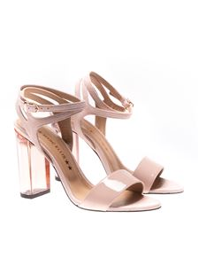 MARC ELLIS - Patent leather and suede sandals