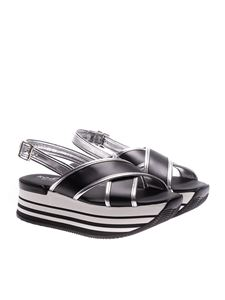 Hogan - Black and silver H294 sandals