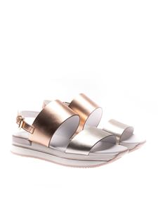 Hogan - Powder pink and golden H257 sandals