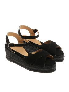 Castaner - Black Blaudell wedge sandals