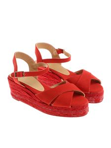 Castaner - Red Blaudell wedge sandals