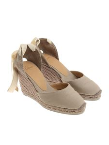 Castaner - Dove grey Carina C wedge espadrilles