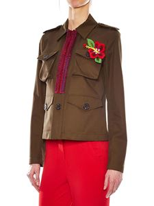 Dsquared2 - Brown jacket with multicolor inserts