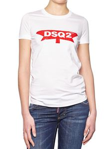 Dsquared2 - White crewneck t-shirt with logo