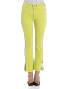 MSGM - Light blue and lime green jeans