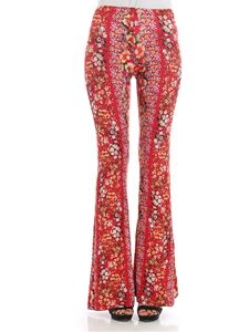 Black Coral - Red Alba flared trousers