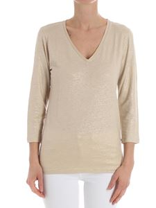 Majestic Filatures - Golden sweater with V-neck