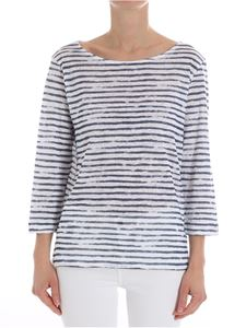 Majestic Filatures - White and blue striped top