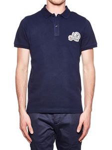 Moncler - Cotton polo shirt with logo inserts