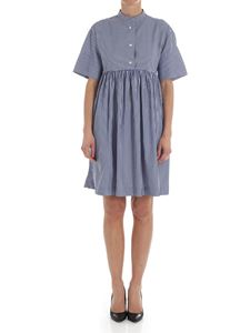 Woolrich - Blue dress with white stripes