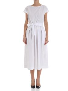 Woolrich - White dress with ribbon