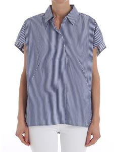 Woolrich - Blue blouse with white stripes