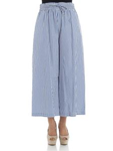 Max Mara Weekend - White and light blue striped Leader trousers