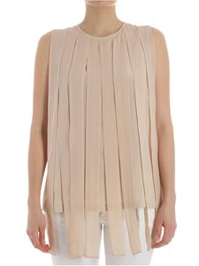 Max Mara - Silk-colored Torquay top