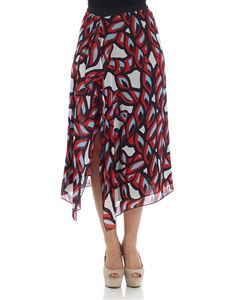 Pinko Uniqueness - Red Verbena skirt with vent