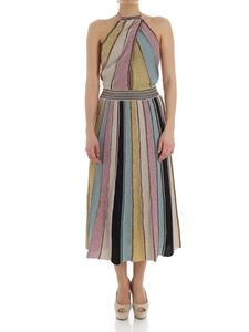 M Missoni - Multicolor knitted dress with lurex
