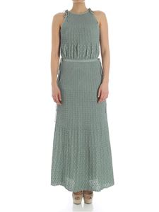 M Missoni - Green lurex dress with laces