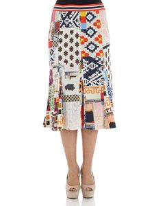 Tory Burch - Jada skirt with multicolor optical print