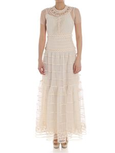 Red Valentino - Embroidered tulle dress