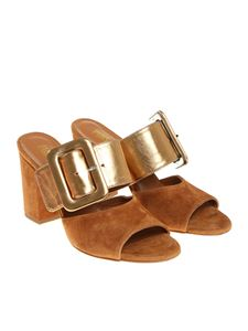 Paris Texas - Tan leather sandals with buckle