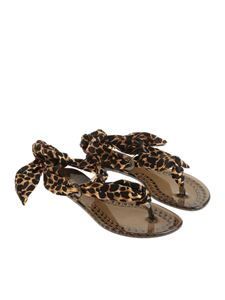 Casadei - Animal printed thong sandals