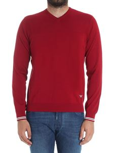 Emporio Armani - Red V-neck sweater