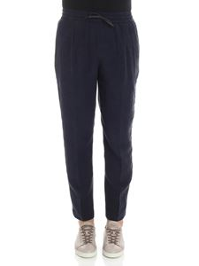 Emporio Armani - Blue trousers with white and gray inserts