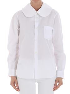 Comme Des Garçons - White collar with rounded collar