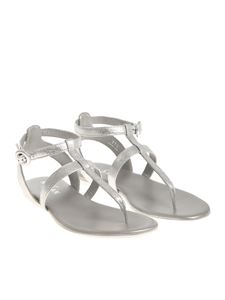 Hogan - Silver Valencia thong sandals
