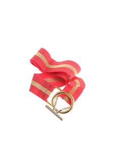 Pinko Uniqueness - Pink and golden Peverina belt