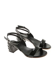 Tod's - Black patent leather sandals