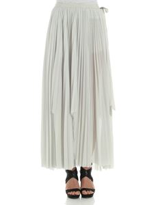 Erika Cavallini Semi-couture - Ice color pleated Palma skirt