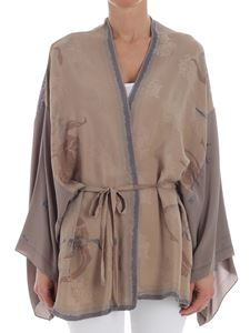 Erika Cavallini Semi-couture - Mud color Eliana cardigan