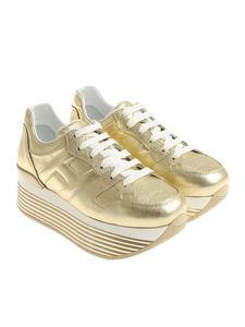 Hogan - Golden H352 platform sneakers