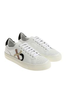 Ballantyne - White sneakers with pierced inserts