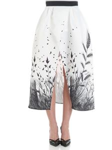 Elisabetta Franchi - White skirt with spikes prints