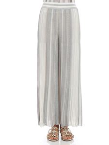 Missoni - White and silver lamé pants