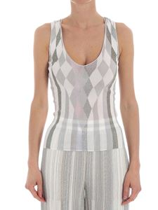 Missoni - White and silver lamé top