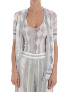 Missoni - White and silver lamé cardigan