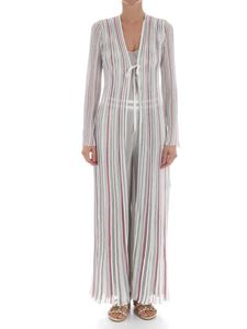 Missoni - Long silver lurex cardigan