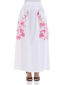 Ermanno Scervino - White skirt with floral embroideries