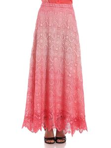 Ermanno Scervino - Pink degradé macramé skirt