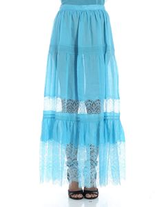 Ermanno Scervino - Light blue ramie skirt