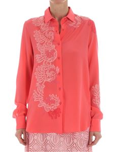 Ermanno Scervino - Peach color shirt with lace embroidery