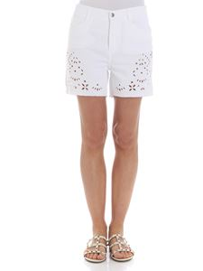 Ermanno Scervino - White embroidered shorts
