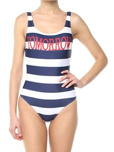 Alberta Ferretti - Blue and white Tomorrow striped swimsuit