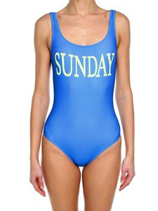 Alberta Ferretti - Light blue lycra Sunday swimsuit